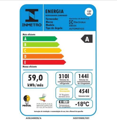 Consumo-Geladeira-Electrolux- DB53X