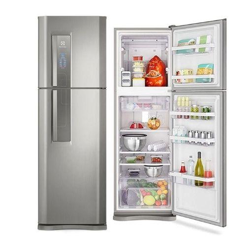 Refrigerador Electrolux Duplex Inox DF44S Frost Free Top Freezer 402 Litros
