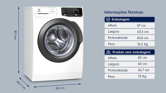 Lavadora de roupas Electrolux LFE11 - Design e Ficha técnica