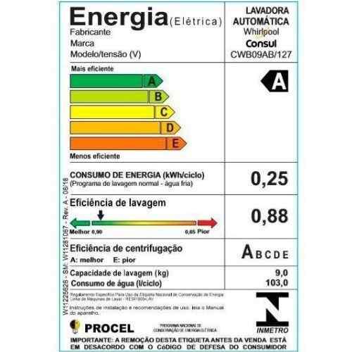 Selo Procel-A-de-eficiência-energética-da-lavadora-CWB09AB-da-Consul