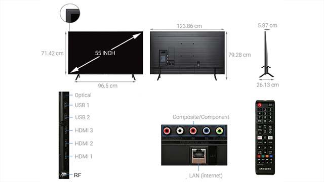 Smart TV Samsung RU7100-design