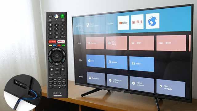 Smart TV Sony 55 polegadas 4K XBR-55X805G - design