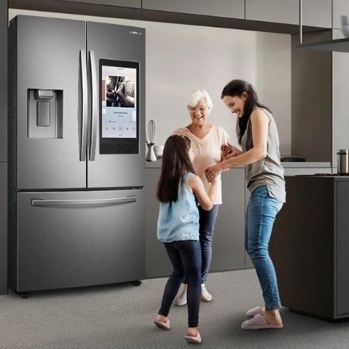 geladeira inox samsung
