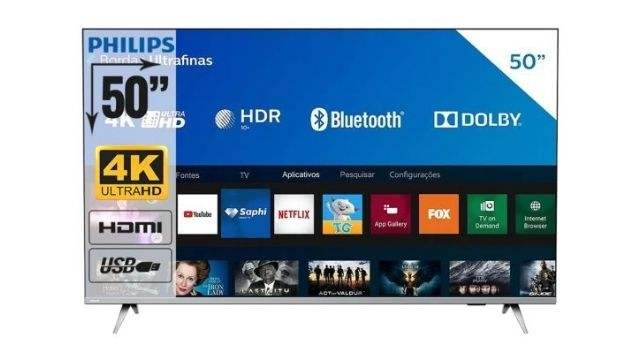 Smart-TV-Philips-50-polegadas-50PUG6654