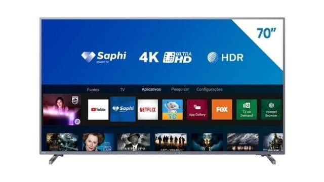 Smart-TV-Philips-70PUG6774-Ultra-HD-4K-Tela