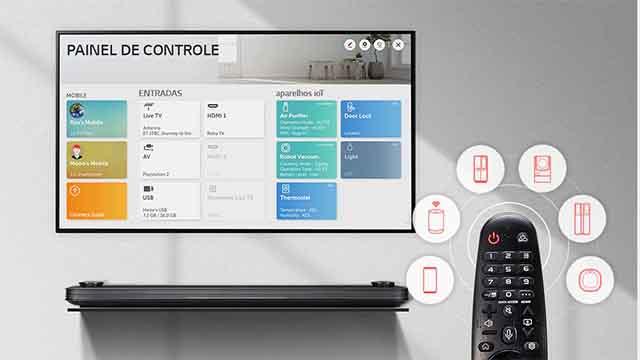 smart-tv-LG-50UM7510-Painel de Controle